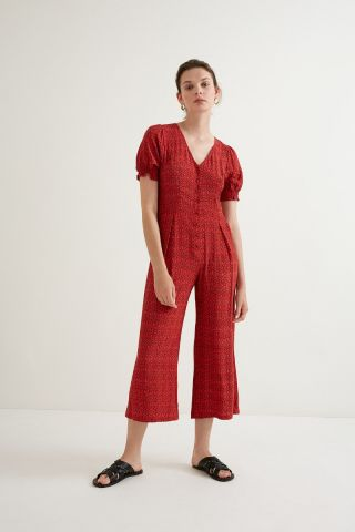 Red graphic printed Jumpsuit