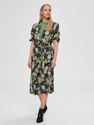 Botanical print midi dress - Selected Femme