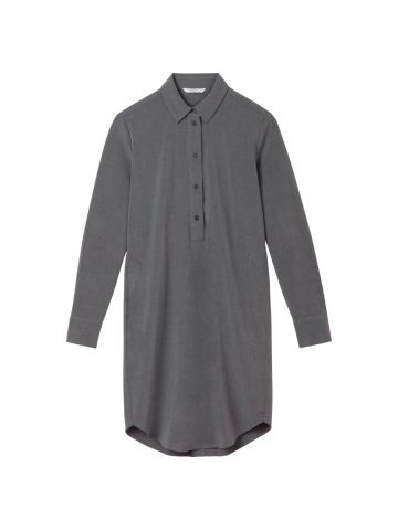 Shirt dress with slit and button detail