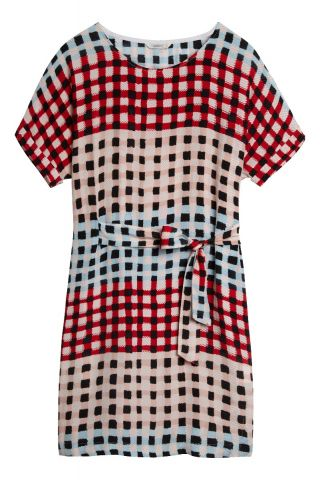 Dress with colourful check pattern - Washed Rose