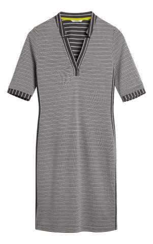 Striped dress with contrasting inset - Iron