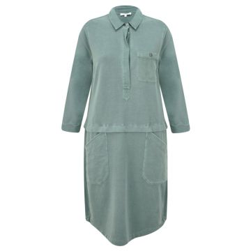 Casual shirt dress with layer detail