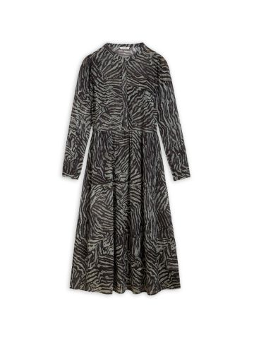 Tiered maxi dress in an all over animal print