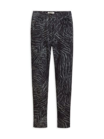 Ribbed jeans in an all over animal print