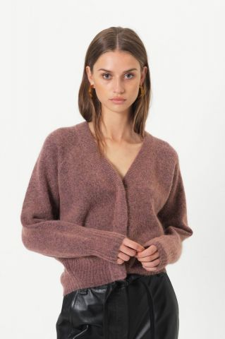 Brook cropped boxy cardigan