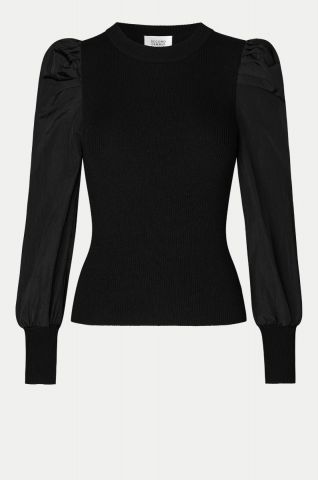Malia Knit with puff sleeve detail