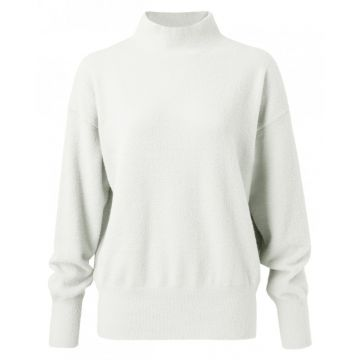 Brushed high neck sweater