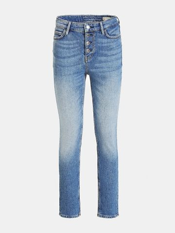 Skinny Fit button front denim jeans