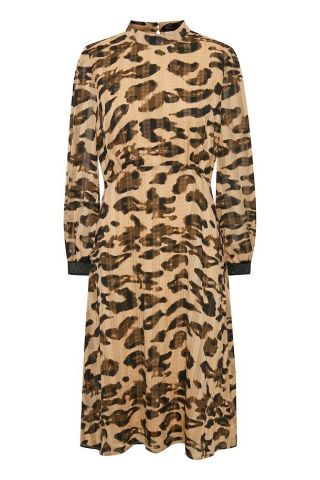 Belinda leopard print dress