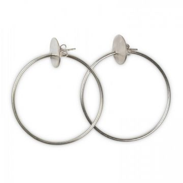 Embossed hoop earrings