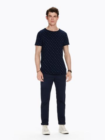 Stuart -  Navy Classic Chino Regular slim fit