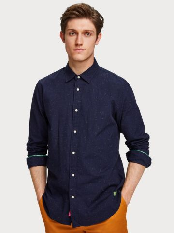 Nepped shirt Regular fit