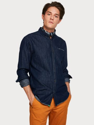 Cotton chest pocket Shirt