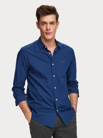 Jacquard Regular fit shirt with pocket detail