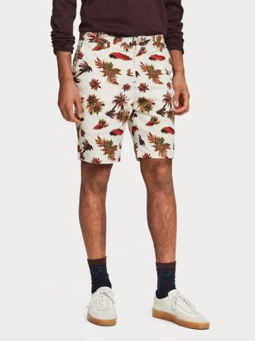 Tropical print Chino shorts