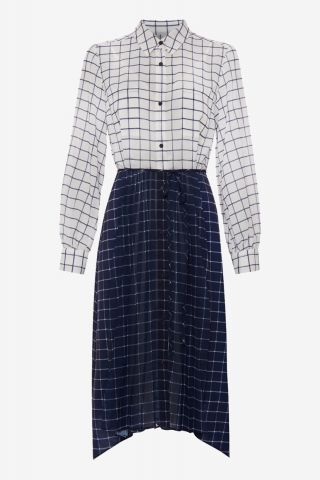 Ayn belted shirt dress with contrast print