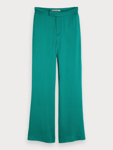 Viscose satin relaxed fit trousers