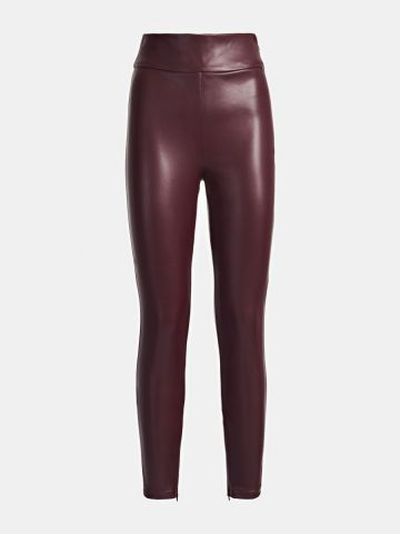 Super slim fit faux leather legging