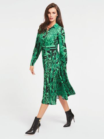Shirt dress in an all over print