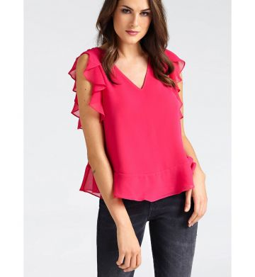Top flounces at bottom and armhole - Pink