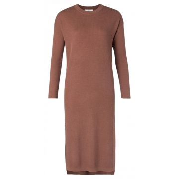 Knitted dress with rib detail